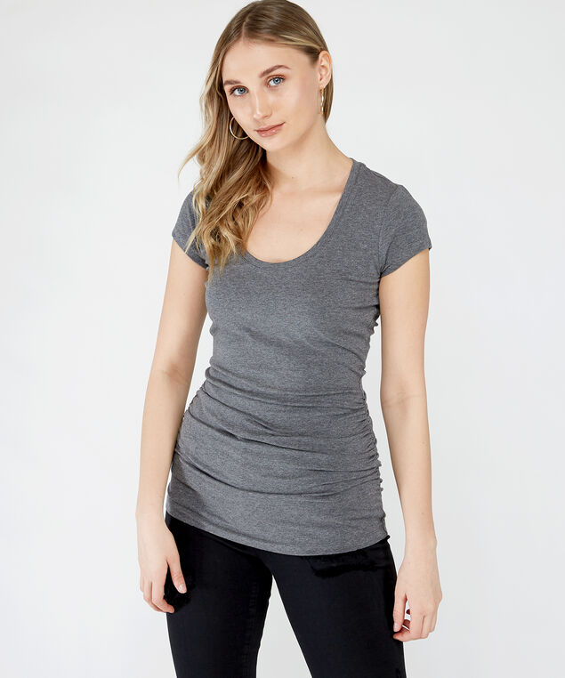 jenny ruched scoop core, Grey