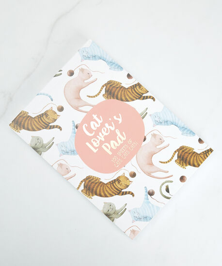 cat lover's notepad, White Pink, hi-res