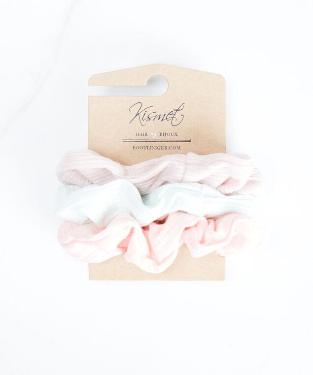 3 pack scrunchies, Pink/Green Pt