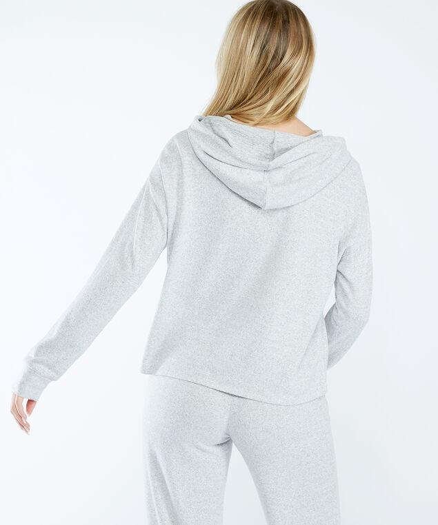 evie popover hoodie, Heather Grey