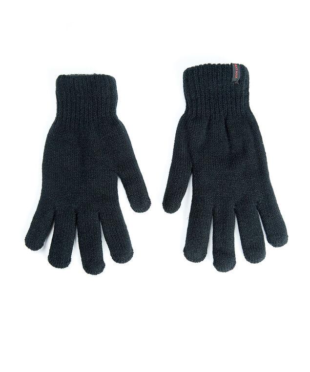 men's heat max gloves, Black