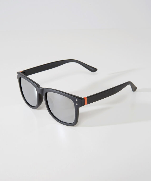 matte black square sunglasses, BLACK/ORANGE, hi-res