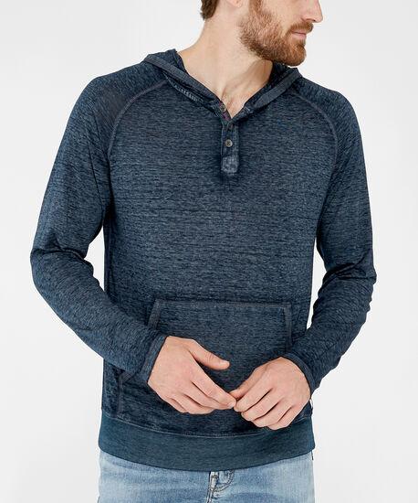 long sleeve hooded tee - wb, BLUE, hi-res