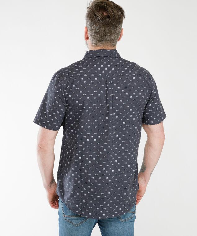 short sleeve printed shirt, Dk Grey