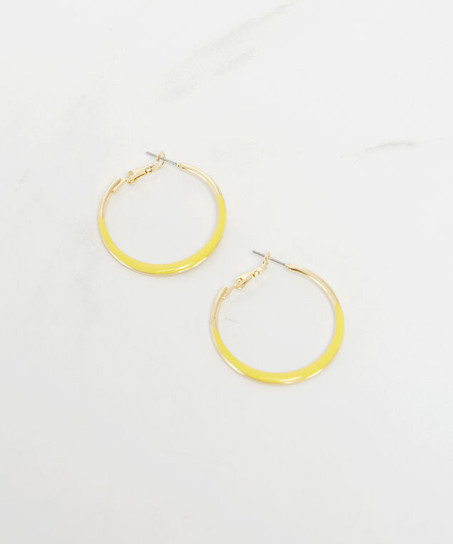 yellow resin hoops, Gold, hi-res