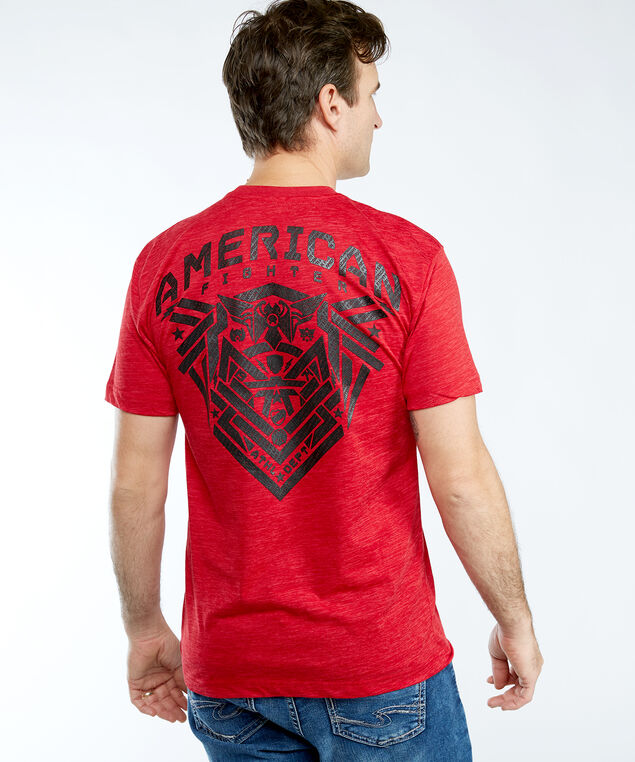 crownpoint SS screen tee, Red