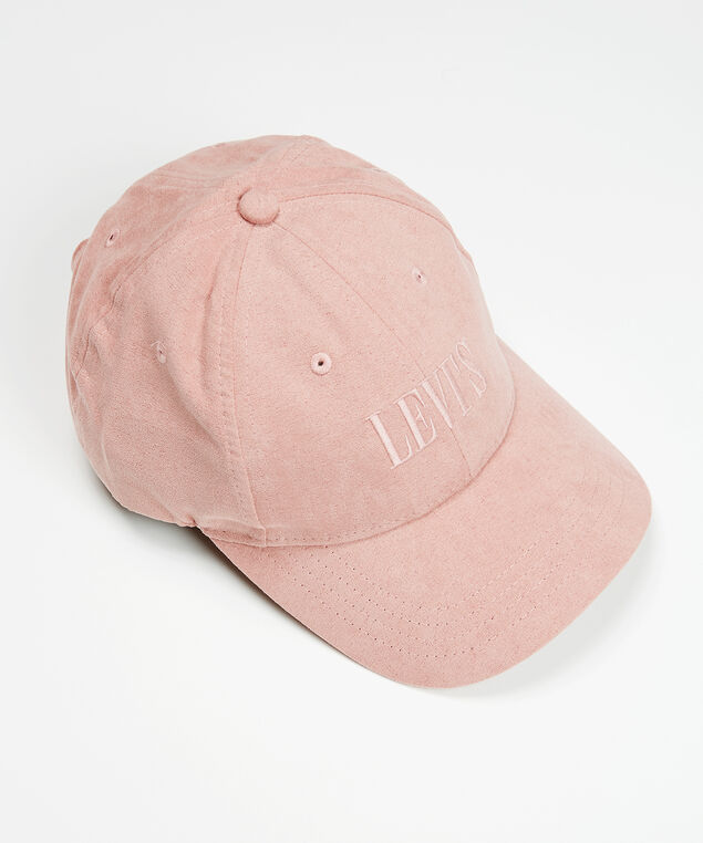 suede ball cap, Rose