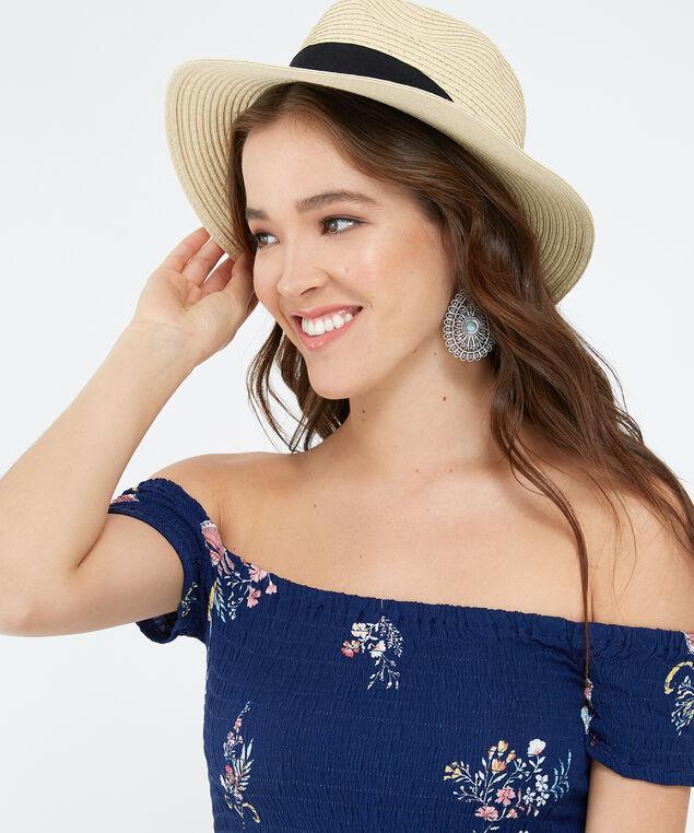 panama hat, NATURAL, hi-res