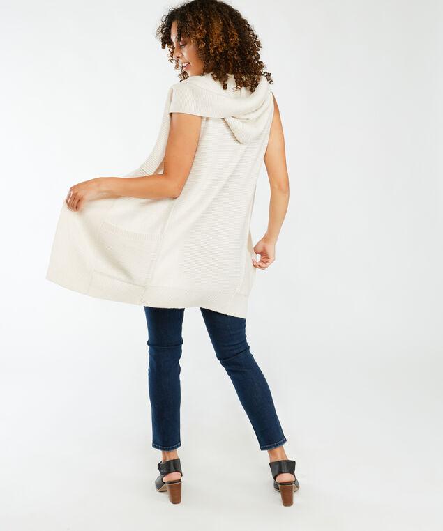 tunic vest with hood, Oatmeal Mel