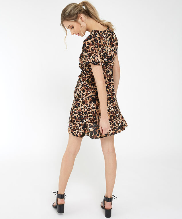 leopard wrap dress - wb, LEOPARD, hi-res