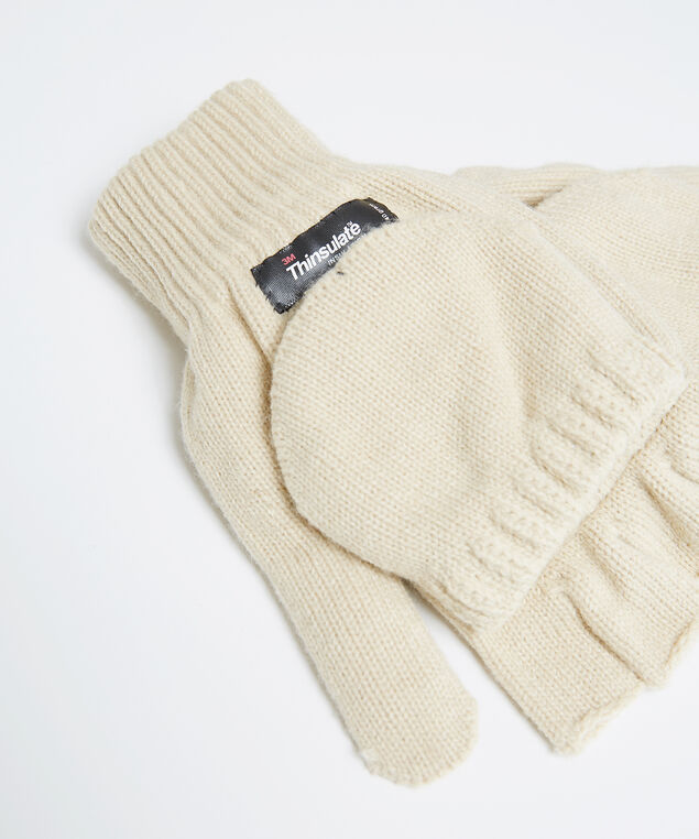 insulated flip glove, NATURAL, hi-res