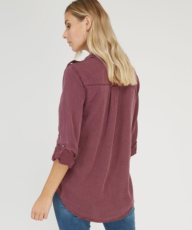 long sleeve double pocket shirt - wb, VINTAGE BURGUNDY, hi-res