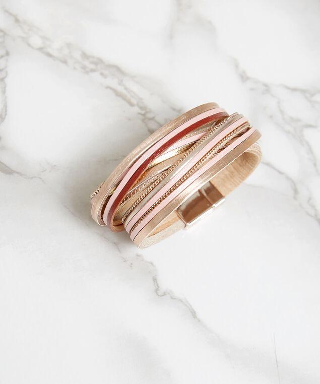 leather strap bracelet, Multi, hi-res