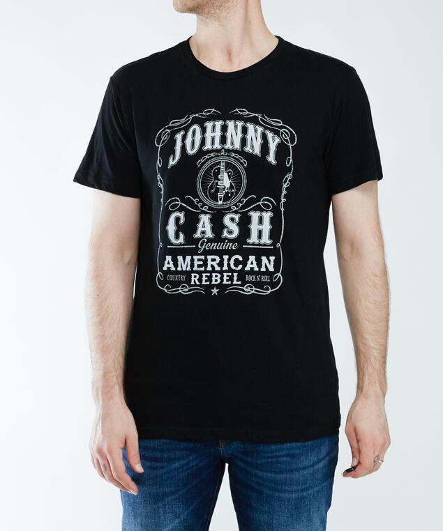 american rebel johnny cash tee, Black