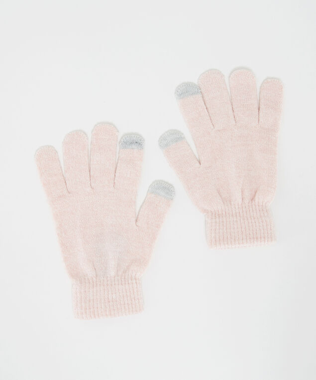 beanie and glove set, Pink, hi-res
