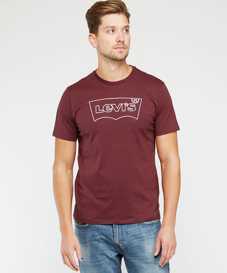 standard fit tee, Wine, hi-res