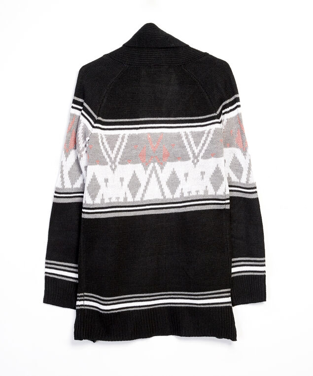 open cardigan - wb, Black, hi-res