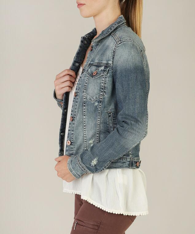 jean jacket sjl211 - wb, DARK STONE WASH, hi-res