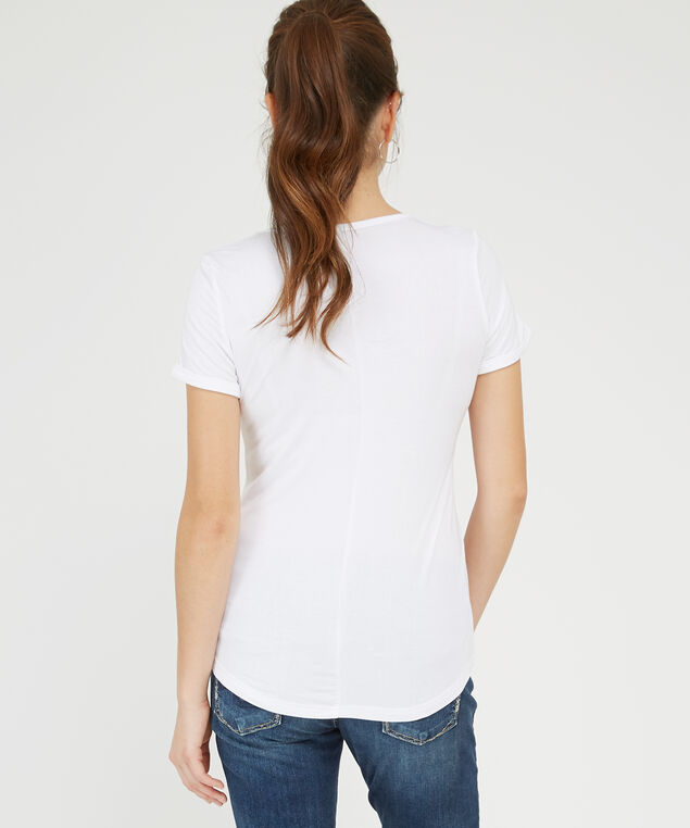 tea shirt, WHITE, hi-res