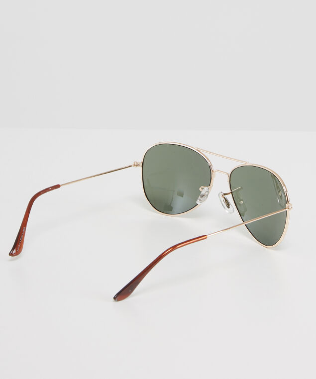 gold aviator sunglasses, GOLD, hi-res