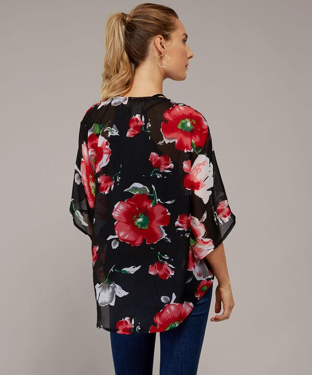 short floral kimono - wb, BLACK FLORAL, hi-res