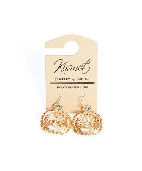 single halloween earrings, Gold, hi-res