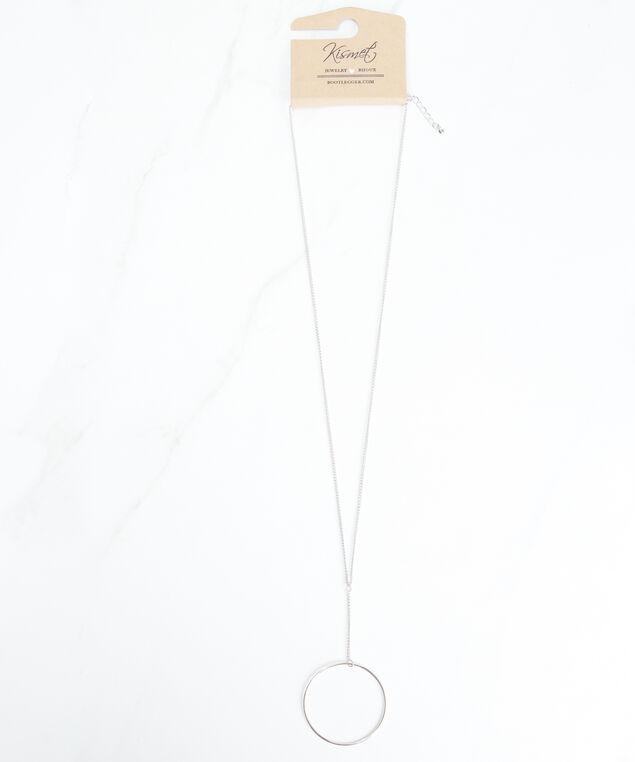 long pendant necklace, Silver