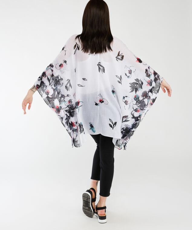 floral print kimono, White