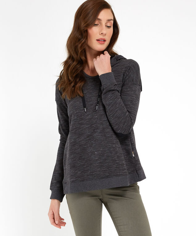 popover fleece with printed hood - wb, CHARCOAL, hi-res