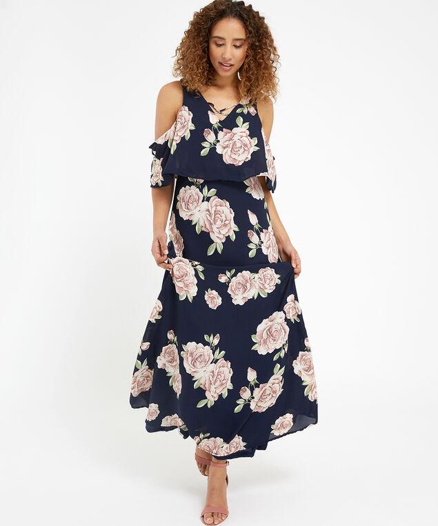 floral maxi dress - wb, NAVY, hi-res