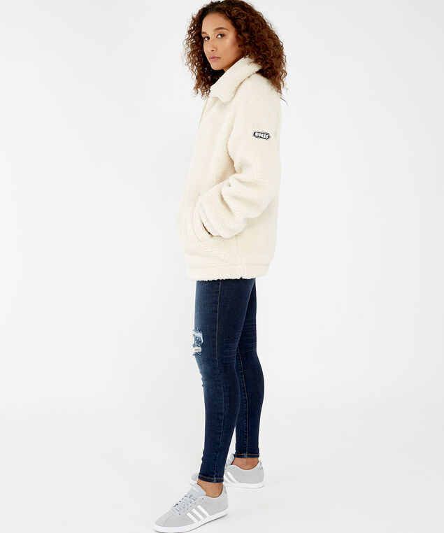 teddy jacket - wb, Cream, hi-res