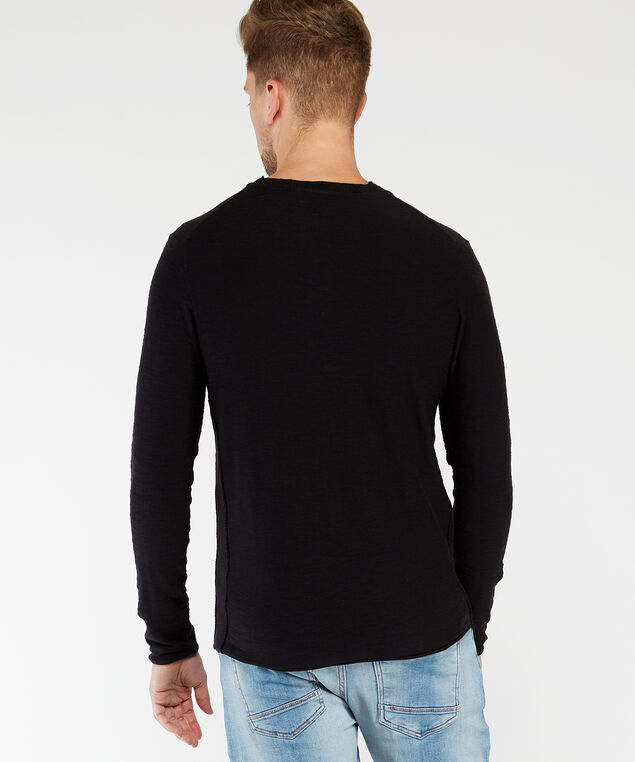 pullover sweater, Black, hi-res