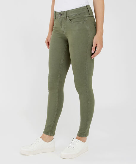 skinny ankle colour f19 moss, , hi-res