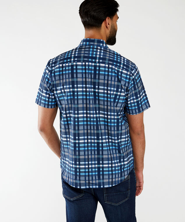 ss plaid button up, Navy Plaid