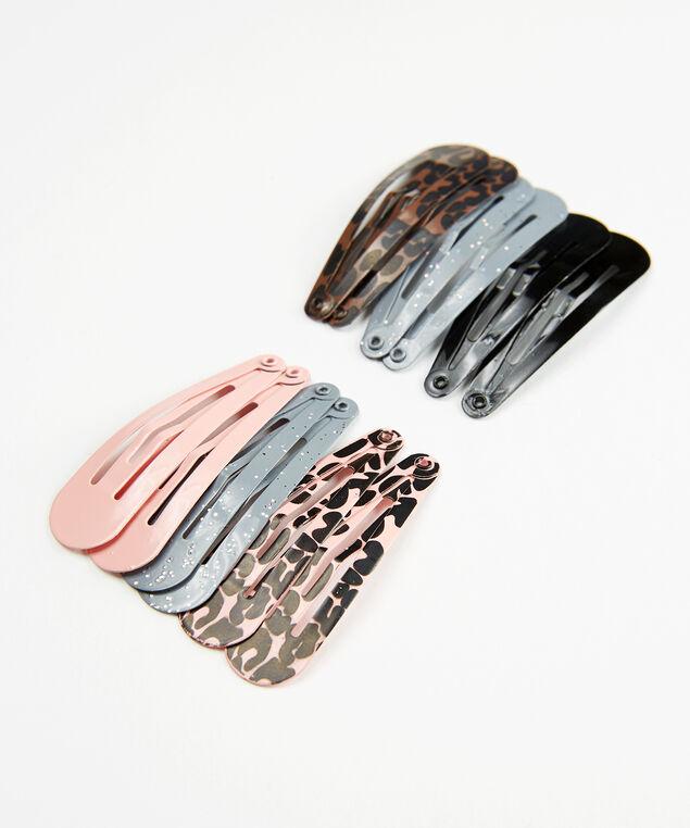 12 piece hair clips, Neutral, hi-res
