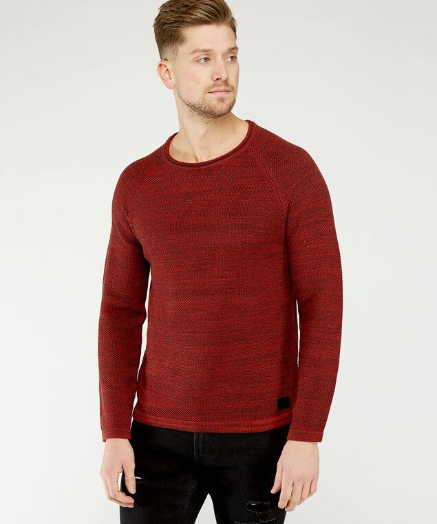 crew neck sweater, Rust