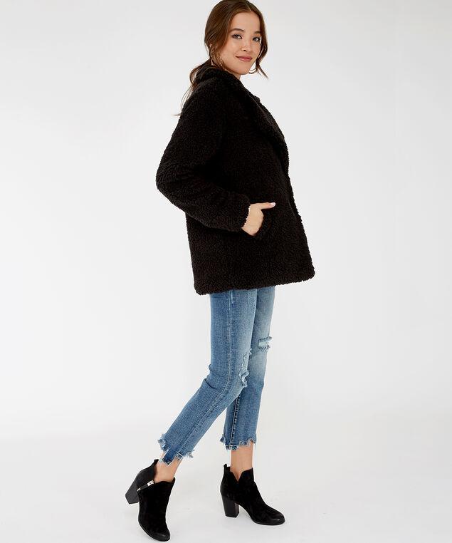 teddy coat - wb, Black, hi-res