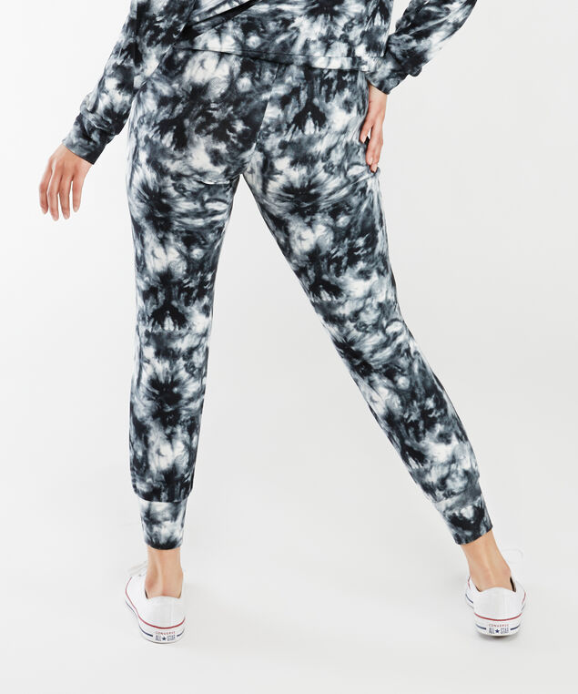 arya jogger, Black and White Tie Dye