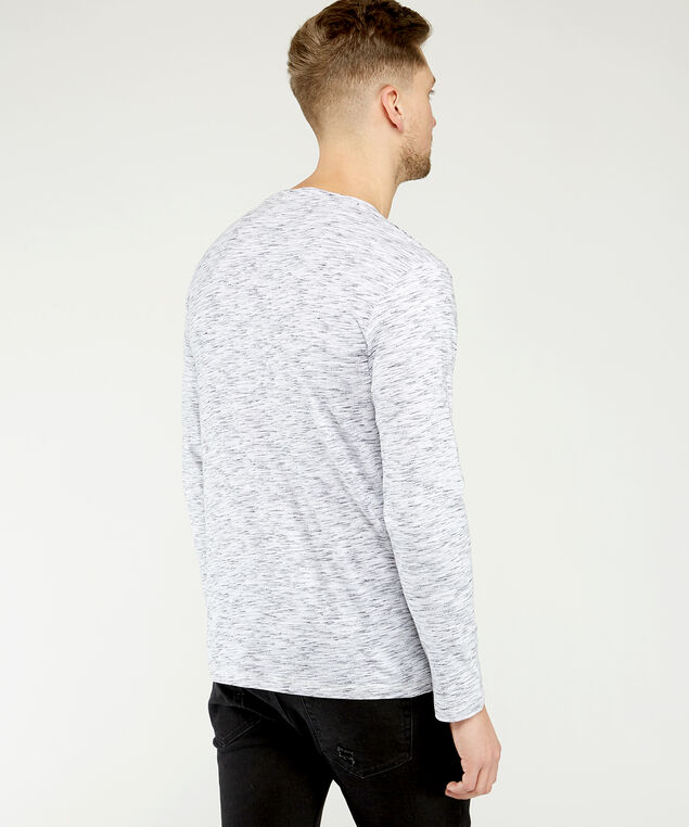 long sleeve graphic tee, White, hi-res