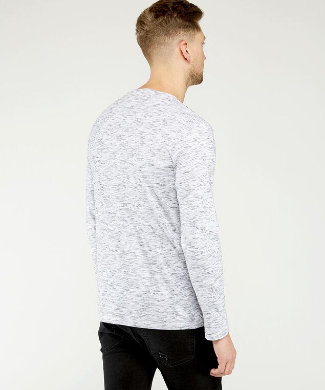 long sleeve graphic tee, White