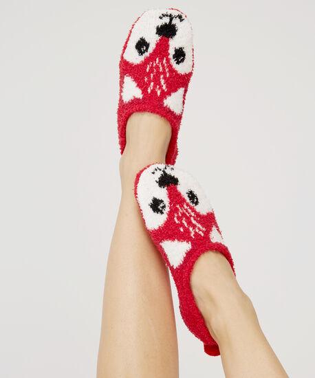 charity slipper sock, RED FAIRISLE, hi-res