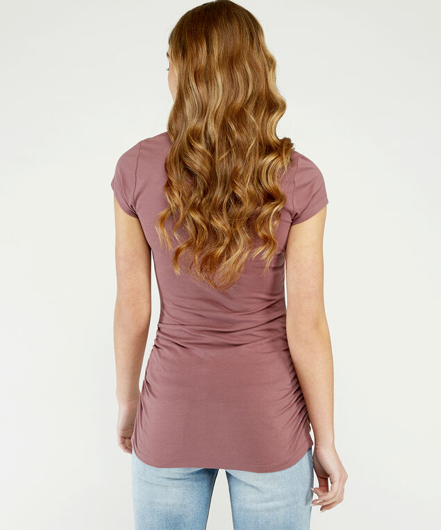 jenny ruched scoop st21, Rose Taupe