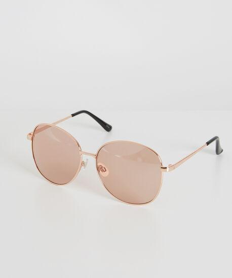 pink aviator style sunglasses, ROSE GOLD, hi-res
