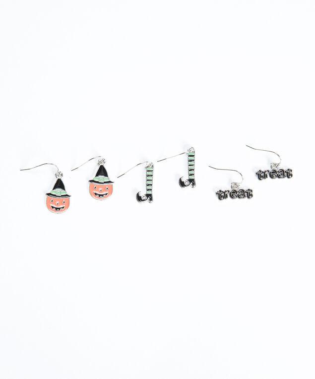 halloween trio earrings, Silver
