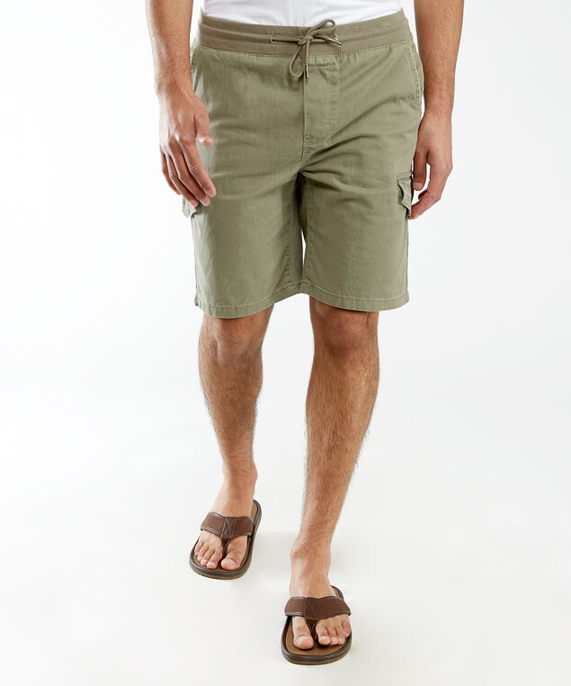 drawstring cargo shorts, Light Olive
