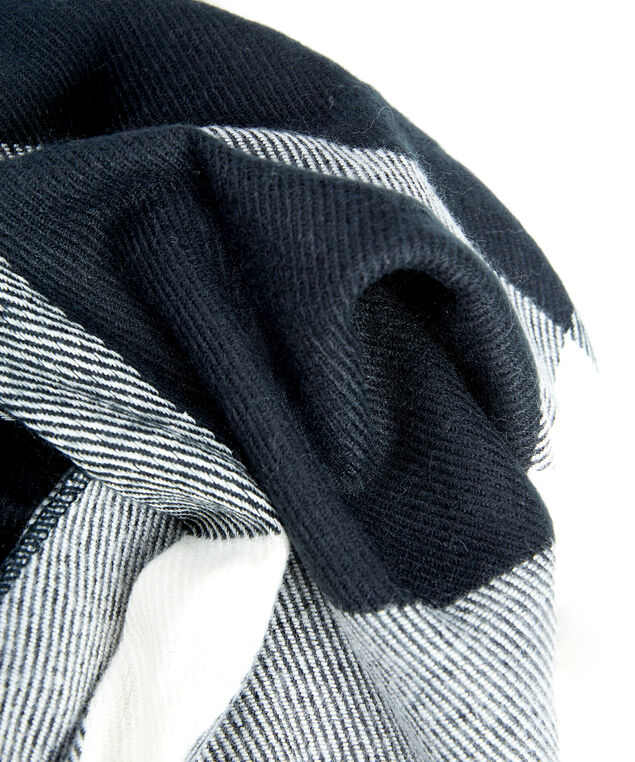 plaid ruana, Black/White
