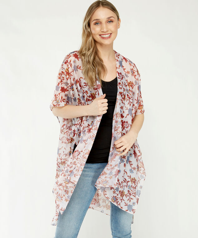 floral print ruana, Md Pink