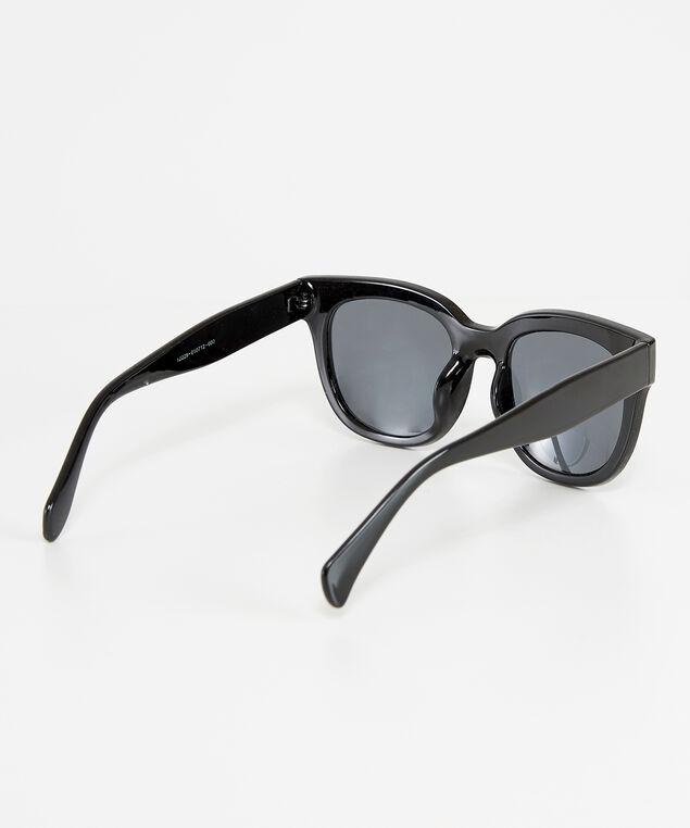 chunky black sunglasses, BLACK, hi-res