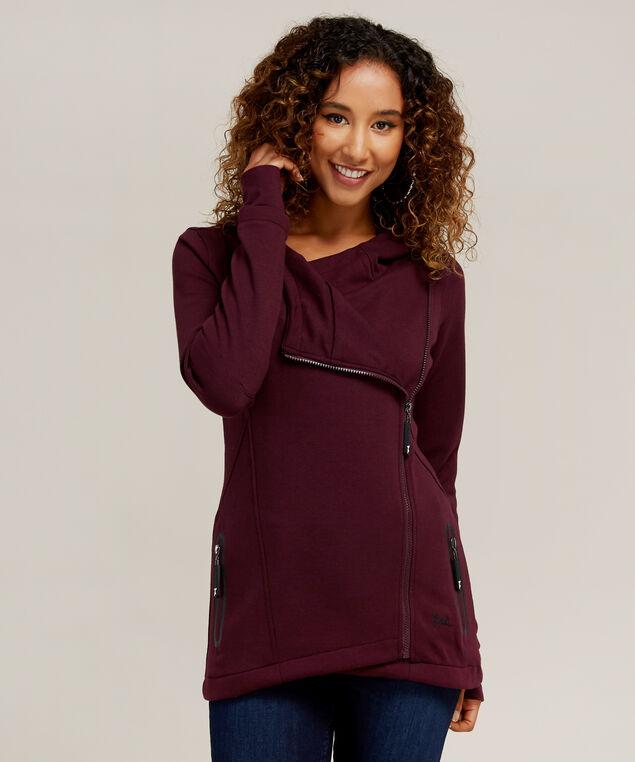 fleece hoodie - wb, PLUM, hi-res