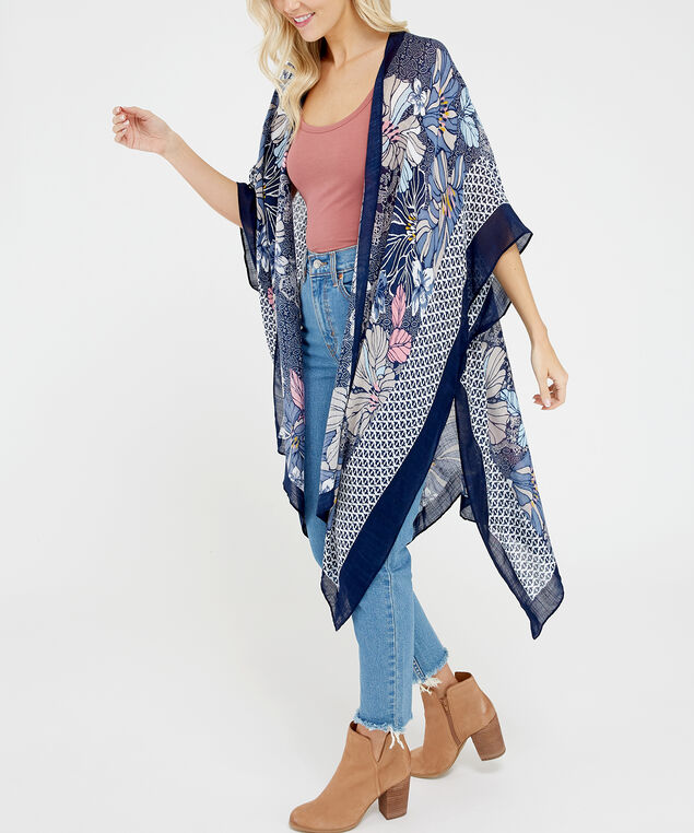 floral kimono, Blue Pt, hi-res